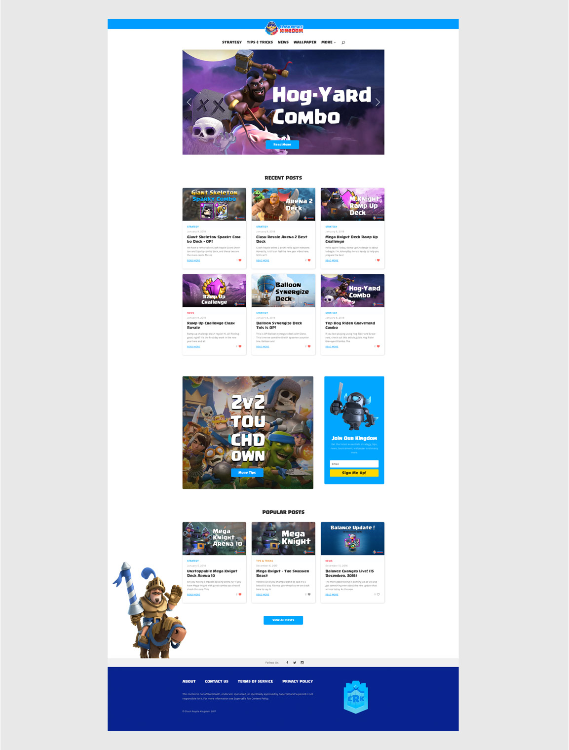 case study clash royale kingdom web home preview kiebrothers